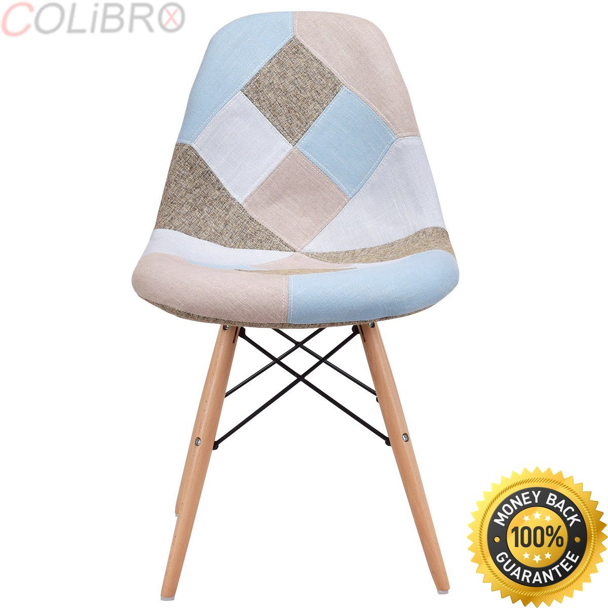 COLIBROX--Set of 2 Dining Side Chair Armless Fabric Upholstered w/ Wood Legs Mid Century. dining room chairs. upholstered dining room chairs. mid century dining chair with wood leg amazon.