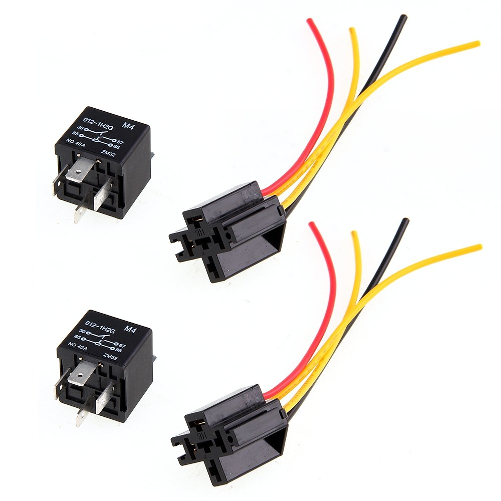 Car Relay Automotive Relay 12v 40a 4 Pin Wire With 5