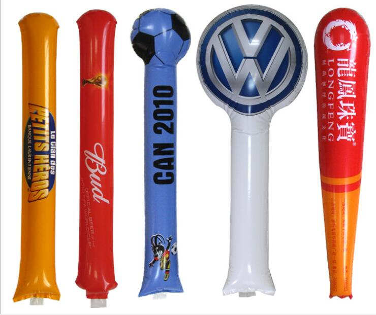 Benutzerdefinierte Druck Ballon Thunder Bang Stick aufblasbare Sticks Thundersticks jubeln Stick