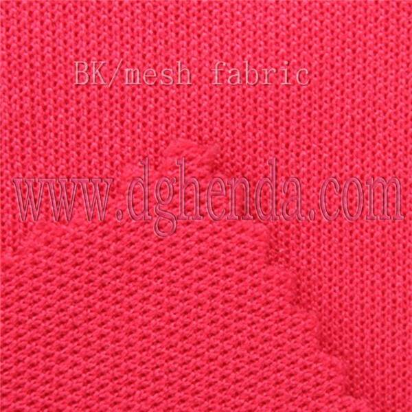 2015 new style 100% polytester BK/mesh fabric/cloth for sport equipment,shoes and so on