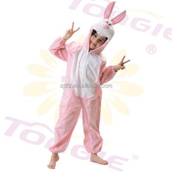 8d57eccd5f91 Lovely pink fleece easter bunny suit onesie costume bunny jumpsuit for kids