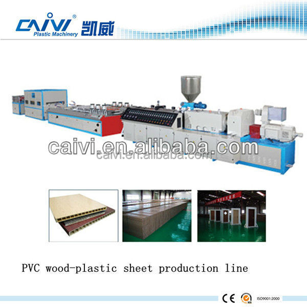 PVC fascia board extrusion / production machine line