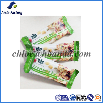 Custom Printed Plastic Bag Cereal Bar Packaging/cereal Bar Wrapper ...
