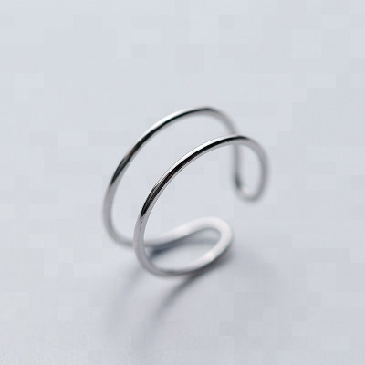 New 2018 Minimalist Ring Bridal Sets Line Real 925 Sterling <strong>Silver</strong> For Women Birthday Party Trendy Jewelry Gift