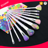 New arrival private label makeup brush synthetic rainbow hair cosmetic beauty brush