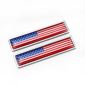 VISONTER Wholesale American flag metal leaf board paste car personalized body modification