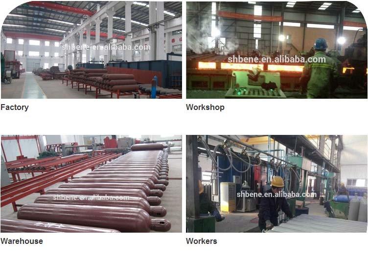 BEYIWOD industrieel gebruik zuurstof/co2/argon 40l 50l naadloze stalen cilinder gas cilinder