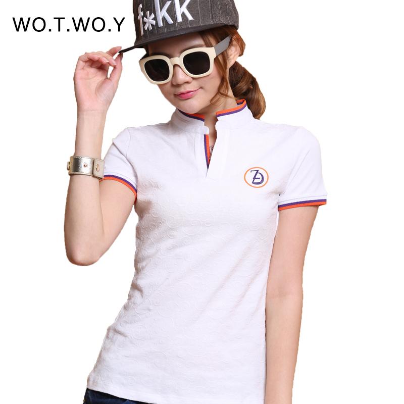 Compra camisa de polo de las mujeres online al por mayor