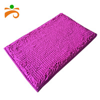 Indoor used high quality polyester microfiber chenille mat