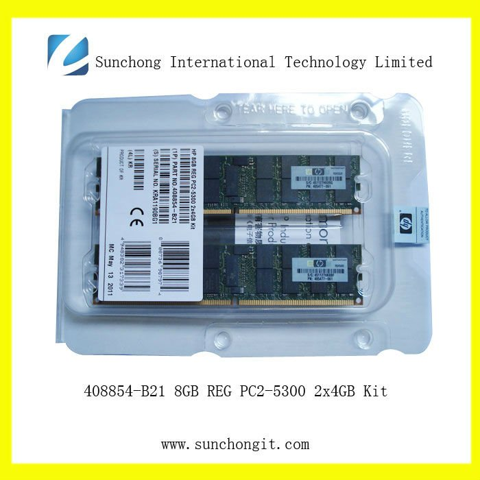 408854-B21 REG ECC 8GB server memory 2Rx4 PC2-5300 Kit for hp AC
