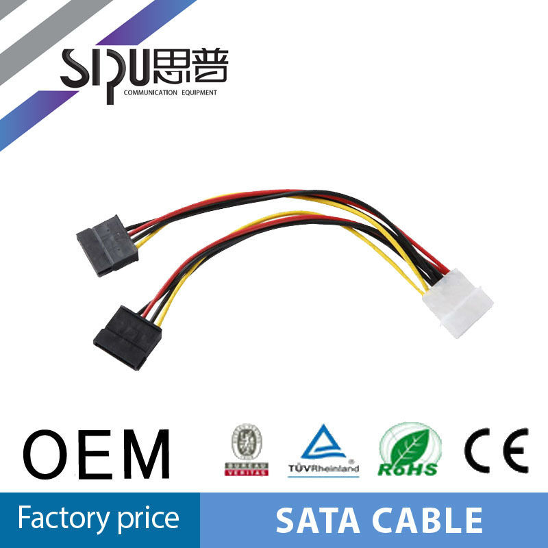 SIPU molex to sata hdd splitter cable 15+7 pin sata serial ata male to male power cable