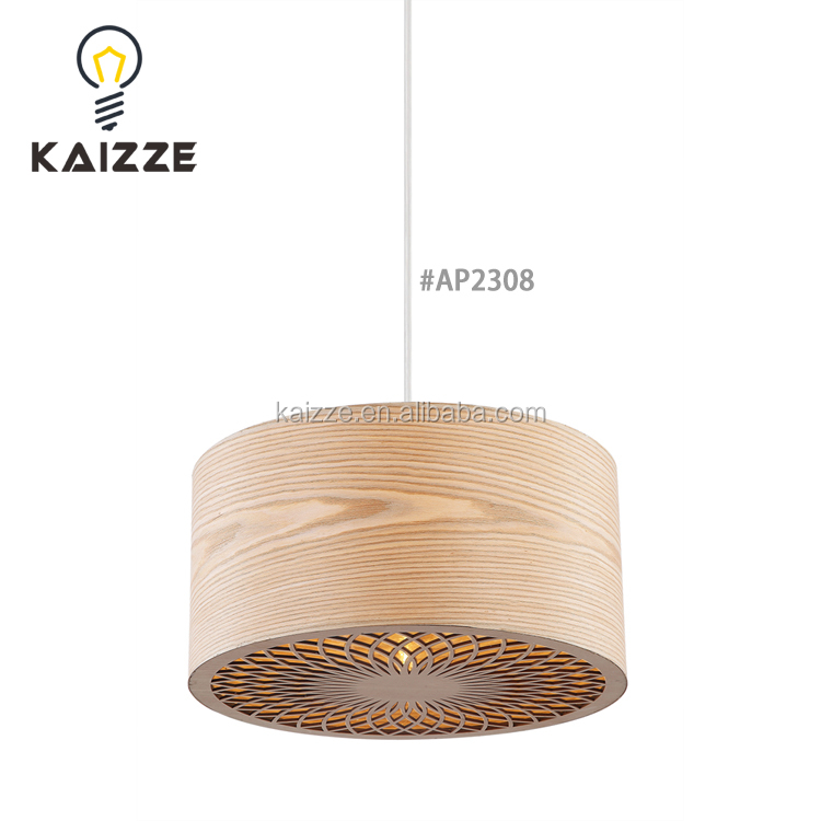 Zhongshan Modern Simple Natural Wooden Pendant Hanging Lamp Chandelier