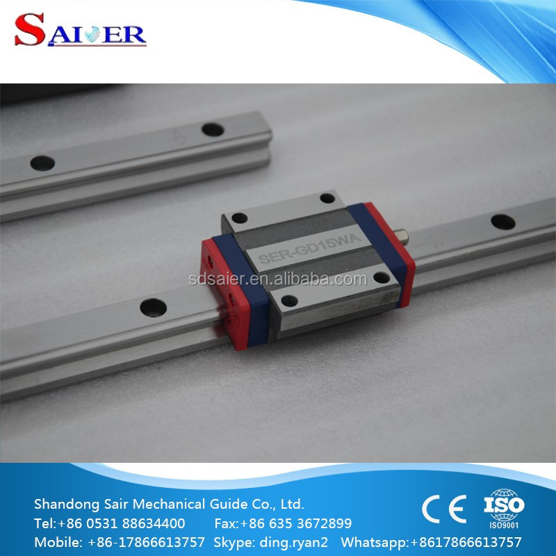 MGN12 miniature linear motion guide rail with MGN12C and MGN12H bearing block