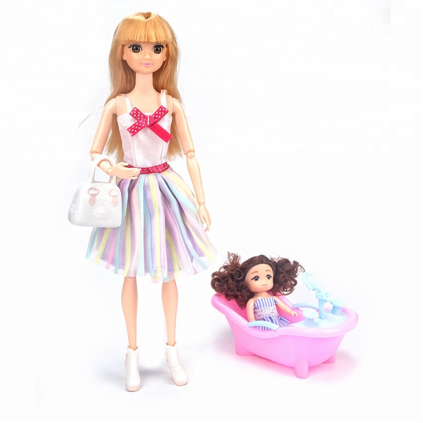 Lofea high quality soft plastic 3D jointed girl <strong>doll</strong> 3