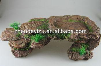 poli resina piedras adornos para el tanque del acuario o tanque reptil decoracin