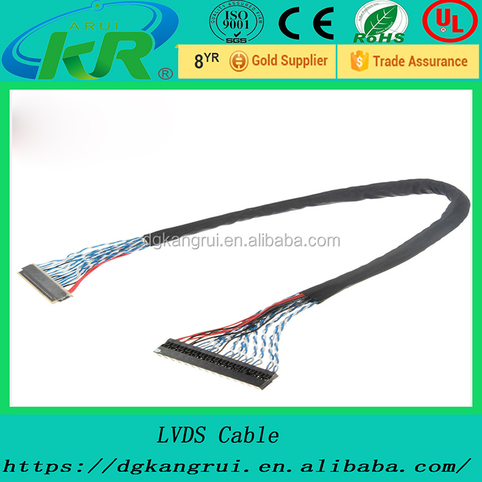 30 Pins Hole Forward LVDS Cable For LCD Panel Display Replace