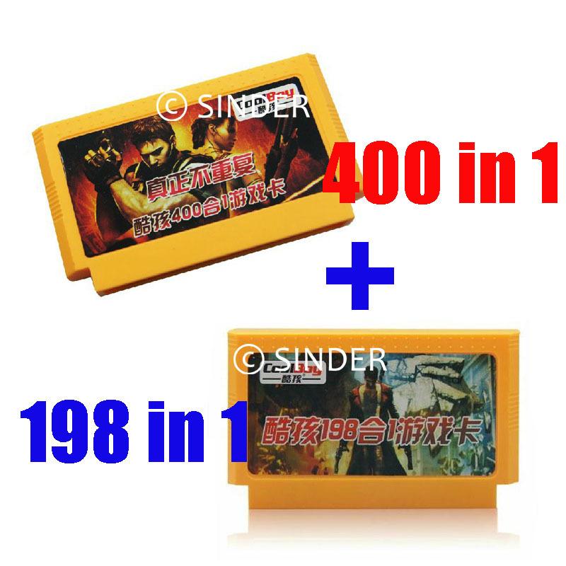8 бит игра картридж игра карта одна пара ------ 400 в 1 + 198 в 1