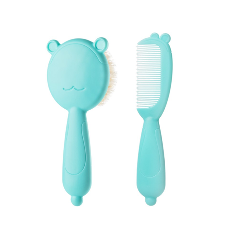 Wholesale Mini Natural Wool Hair Brush Animal Cute Goat Baby <strong>Comb</strong> And Brush Set