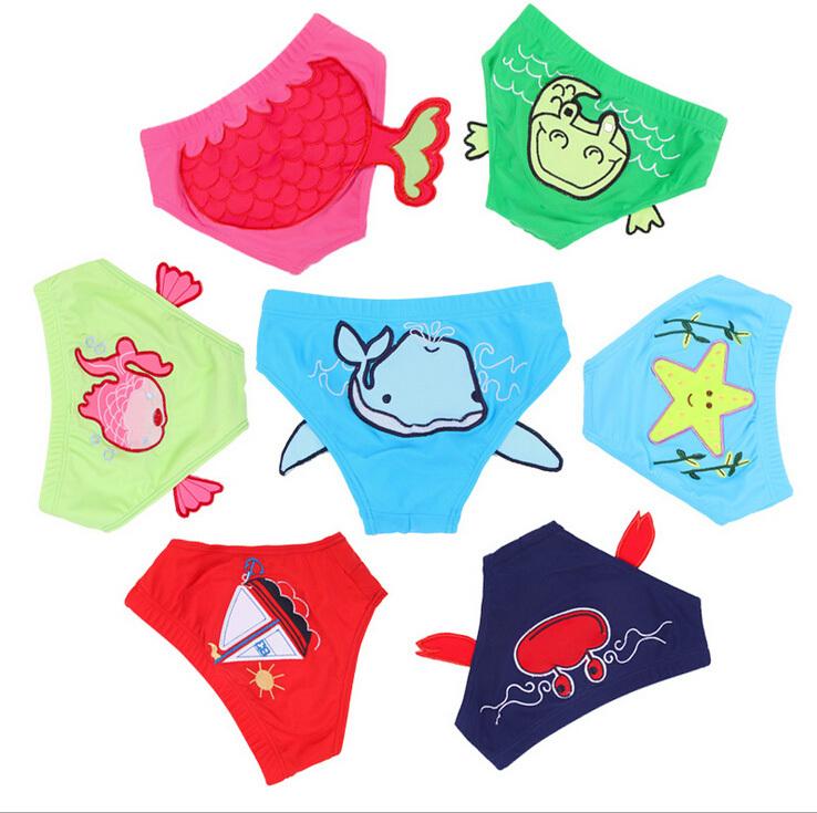 Boy Girl Swimming Trunks Children Swimwear Baby Swimsuit For Kids Cartoon Panties Lovely Summer Bathing wear