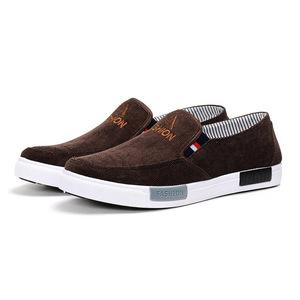 Wholesale black cheap Slip on Men canvas shoes Sneakers