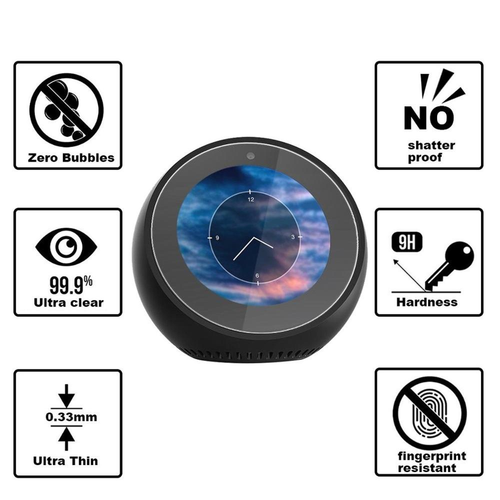 clear glass screen protector for Echo Spot , for Echo Spot glass protector film