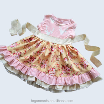 latest summer children clothing fashion design for 9 years old baby girl