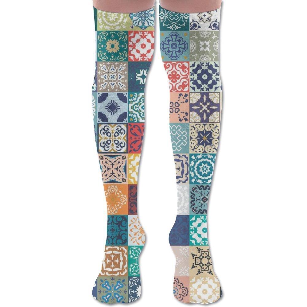 820914fd42 Get Quotations · Momento Ethnic Tribal Pattern Unisex Novelty Knee High  Compression Socks Soccer Sports Team Socks Running Socks