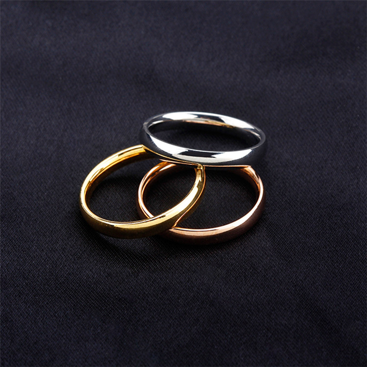 LQ jewelry Classic New Design High Polishing 316 Stainless Steel Plated Rose Gold Rings For Women