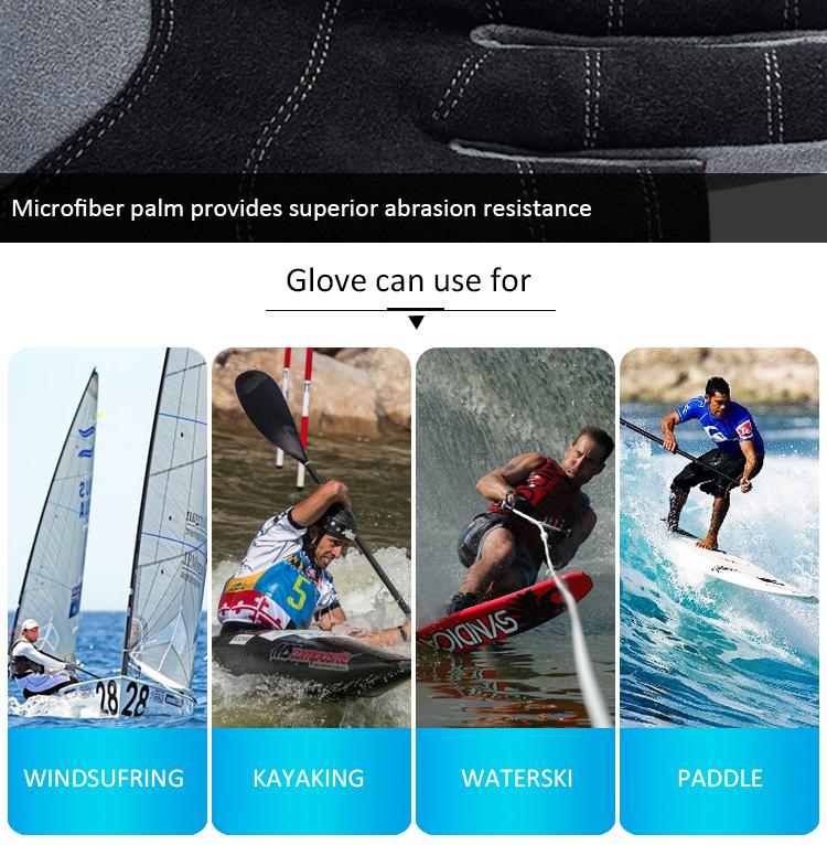 2019 Nova Desenvolver o Stand Up Paddle Board Remo Luvas Sem Dedos Aperto Do Mar Barco À Vela Luvas Esportes Ao Ar Livre