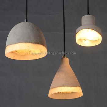 New Design Resin Concrete Pendant Lighting Modern Indoor Chandelier ...