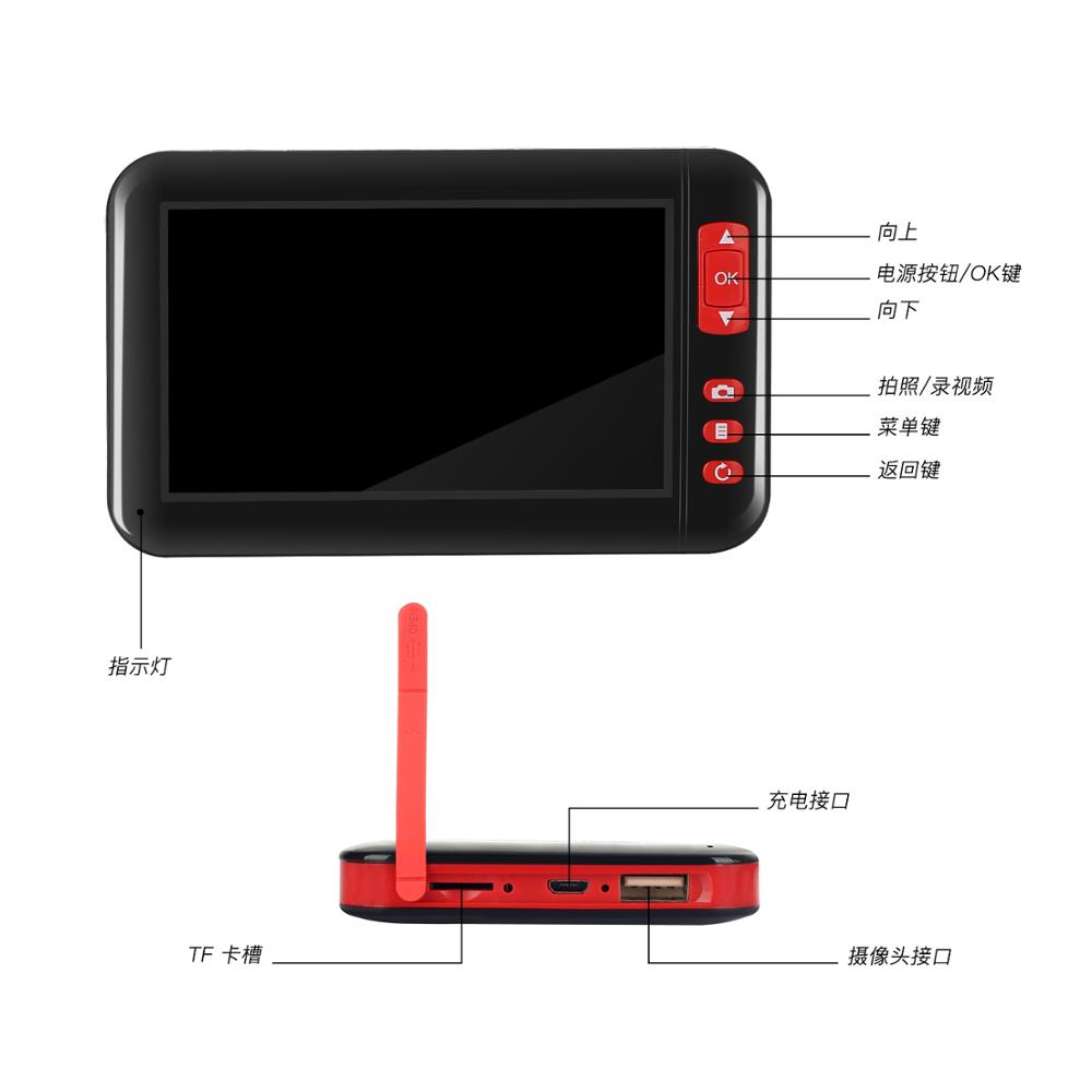 F200 With Screen Endoscope 2 M//5M//10M Hard Line Inspection Borescope Camera IW