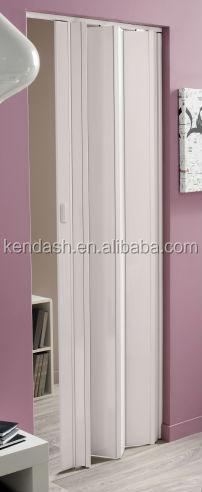 Folding Door Glazed Pvc White Gloss Lockable Internal Door - Buy ...