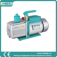HBS China 12 CFM 2RS-4 two stage dual stage rotary vane air vacuum pump for lab instrument HAVC 0.3pa 110V AC