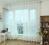 latest design sheer embroidery grommet panel curtains
