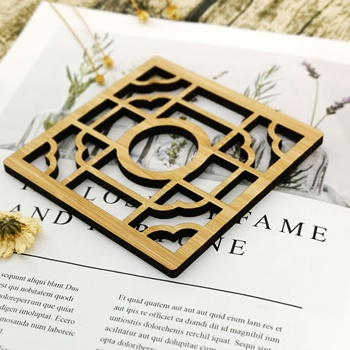 Eco-Friendly Bamboo drink coasters