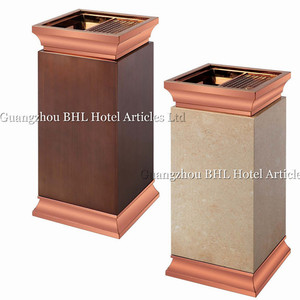 hospitality supplies online cigarette ash bins hotel lobbies and lounges stainless steel trash bin ash bin with lid GPX386