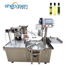 Full Automatic Olive Oil Bottle Filling Machine With Capping