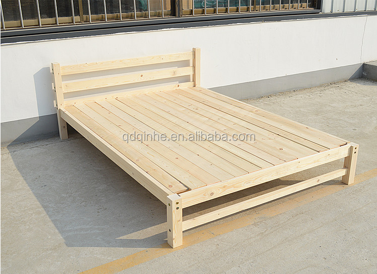 japanese style tatami wooden bed natural import pine wood bed king size double bed buy king. Black Bedroom Furniture Sets. Home Design Ideas