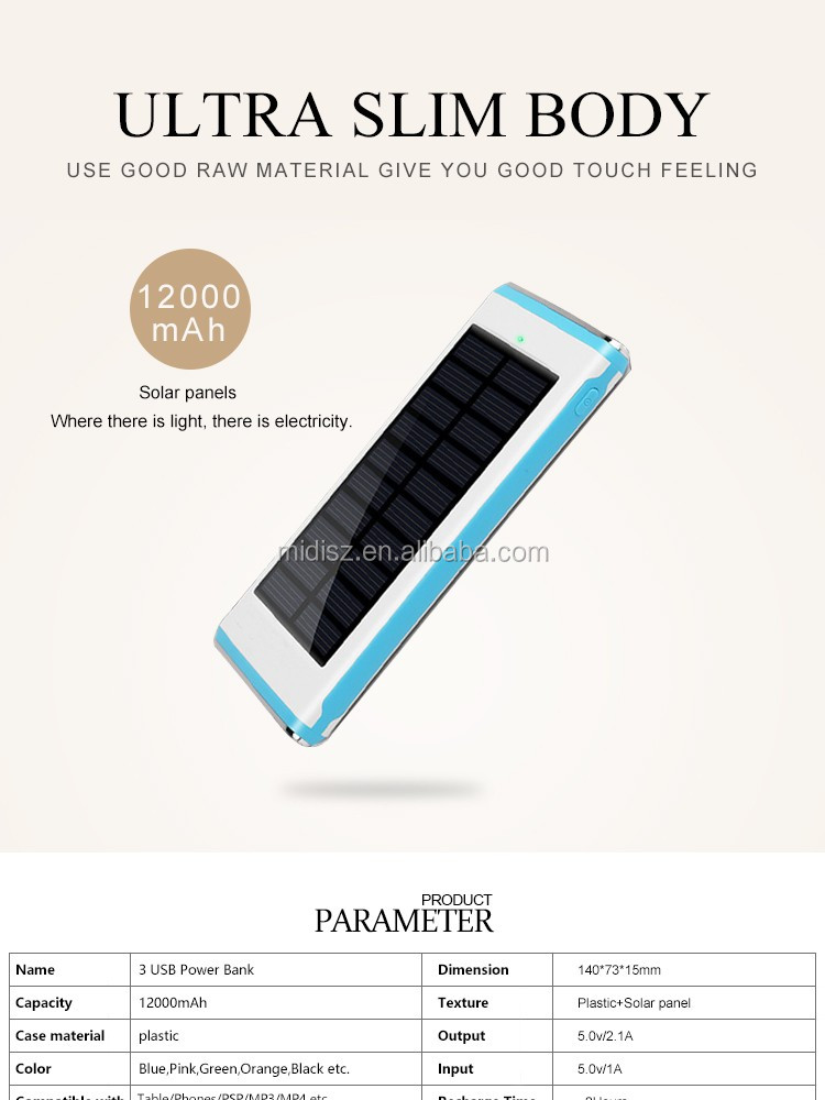 High Efficient Solar Power Bank,10000mah Solar Charger For Mobile  Phones/tablet Pc/other Electronics - Buy High Efficient Solar Power  Bank,Mobile