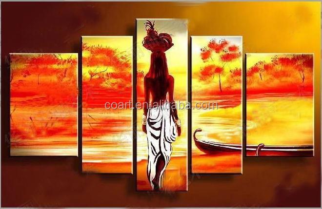 Handmade Modern Canvas African Women Art Painting For Wall Decor ...