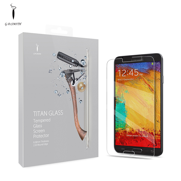 Explosion proof Premium Tempered Glass Screen Protector for Samsung Galaxy Note 3 High Clear Protective Film GODOSMITH Titan