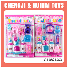 miniatures doll furniture kids play house toy plastic castle and furniture
