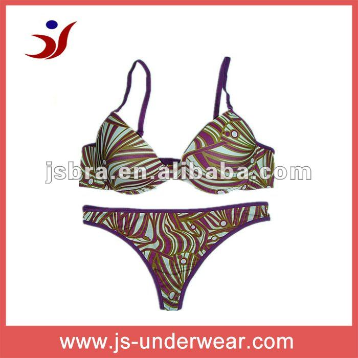 fashion print lingerie hot bra set women undergarment