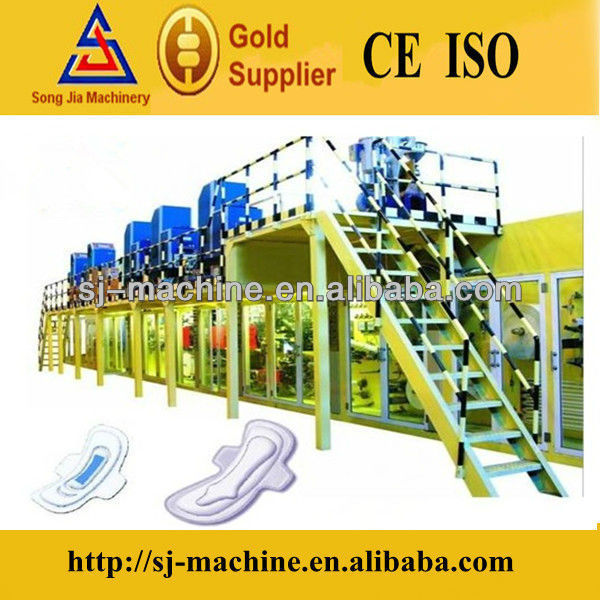 Full Automatic High Quality Sanitary Pads Making Machine for sale