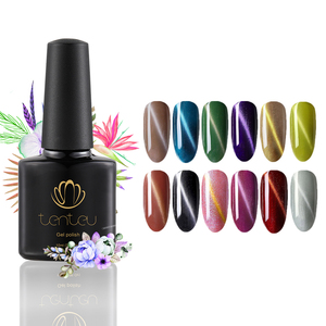 2019 TENTEU factory good selling sakura pink cat eyes nail gel polish 12 colors free samples gel