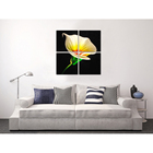 Creative Interior Decor Custom Design Art Print Aluminum Metal Flower Art