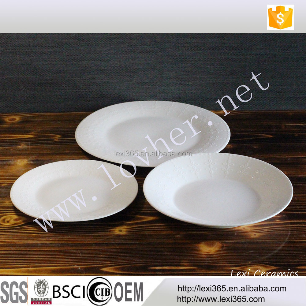 Made in China porcelain dining ware super white new bone18pcs dinner set