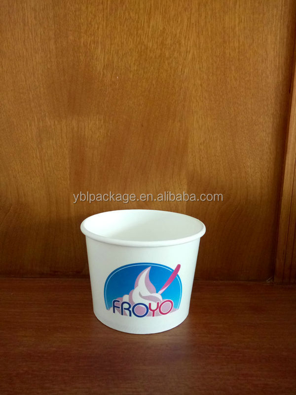 recycled eco-friendly custom logo online printing printed disposable paper yogurt cup