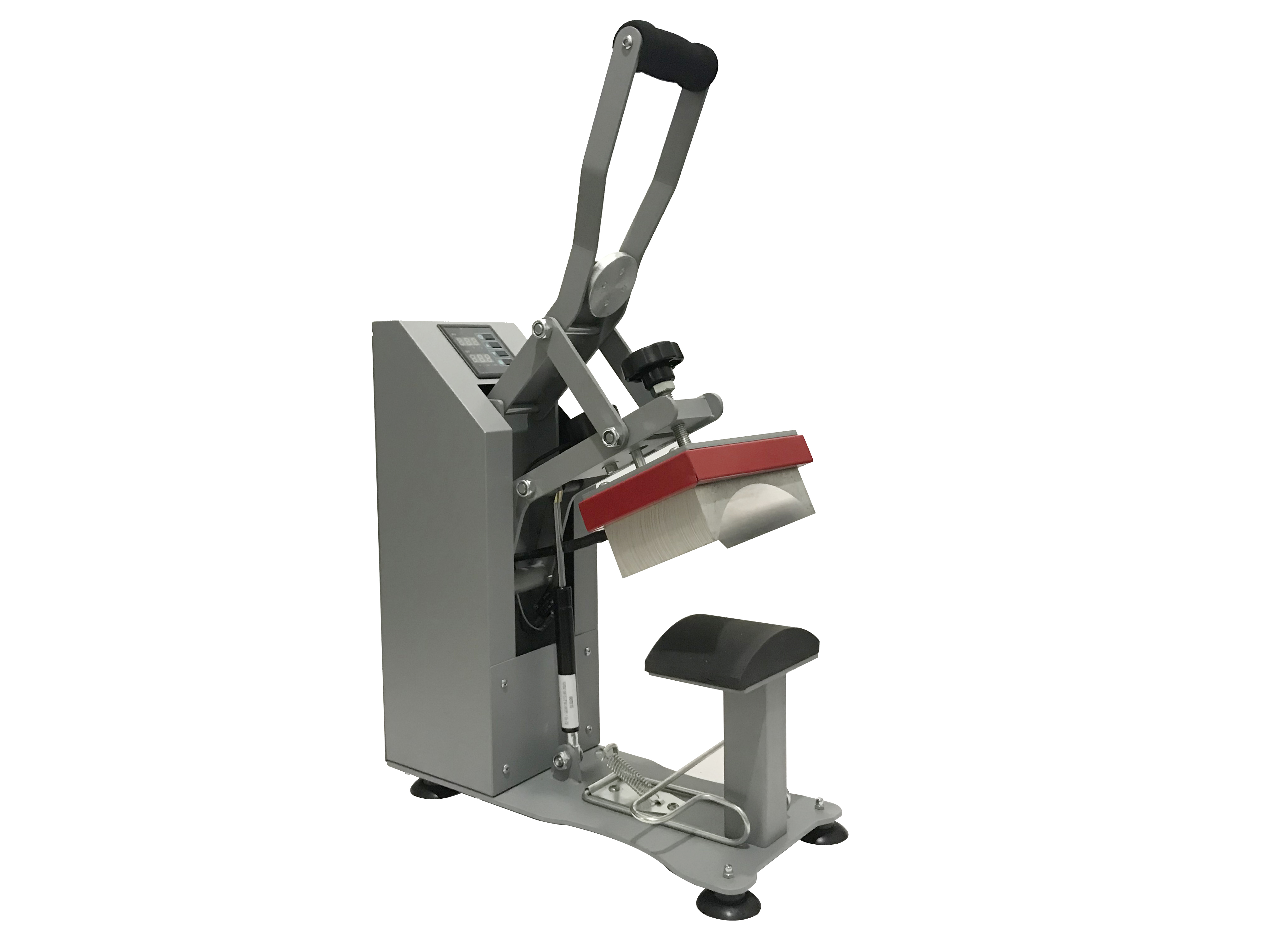 CP2815-P Auto open  Clamshell Manual heat transfer machine for cap