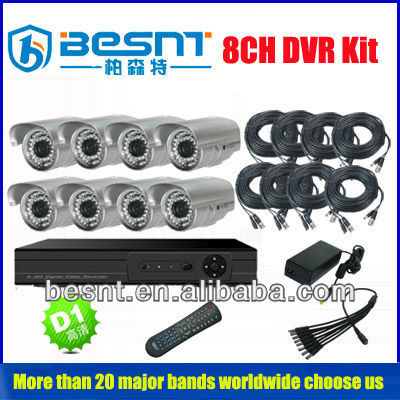 2013 Newly Security System HD D1 DVR Survillance Camera DVR kit (BS-T08N1)